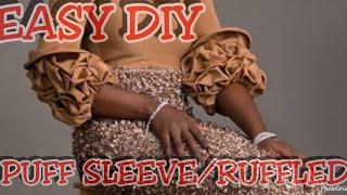 How to make a Puff/Ruffled sleeve(twisted sleeve)