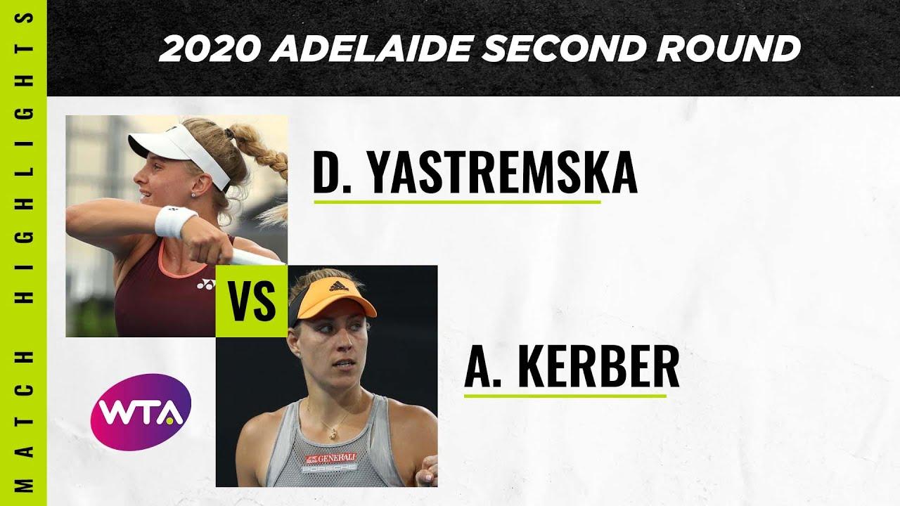 Dayana Yastremska vs. Angelique Kerber | 2020 Adelaide International Second Round | WTA Highlig