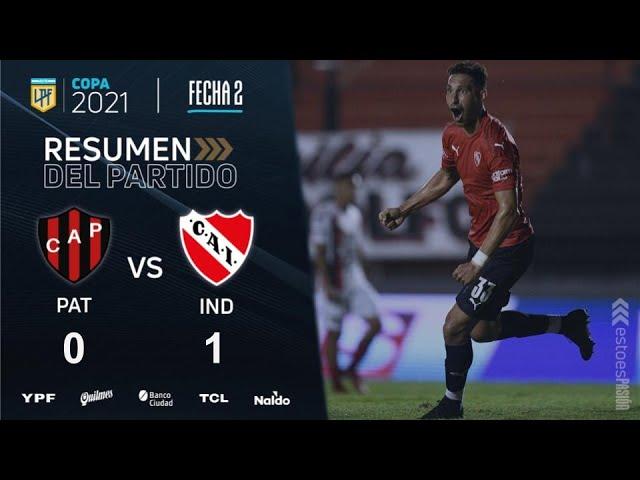 Copa De La Liga   Fecha 2   resumen de Patronato - Independiente