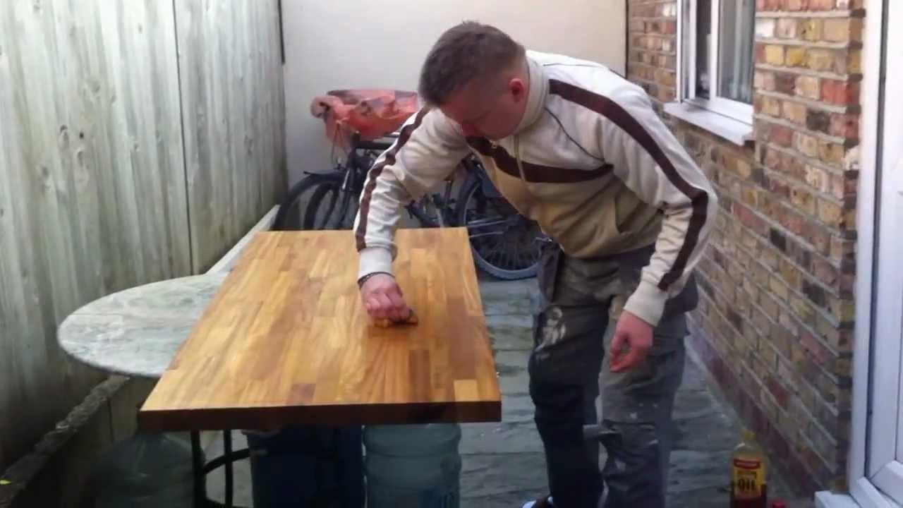 How To Put Oil On Kitchen Worktop Hmmmm