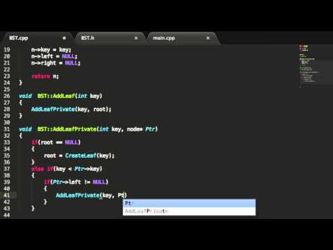 Binary Search Trees -  Add Node Function - C++ - Part 5