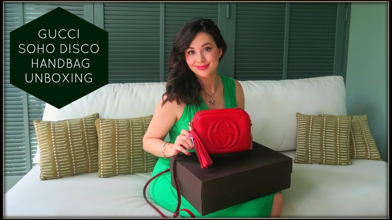 53bc5020ea90d GUCCI SOHO LEATHER DISCO HANDBAG UNBOXING! - YouTube