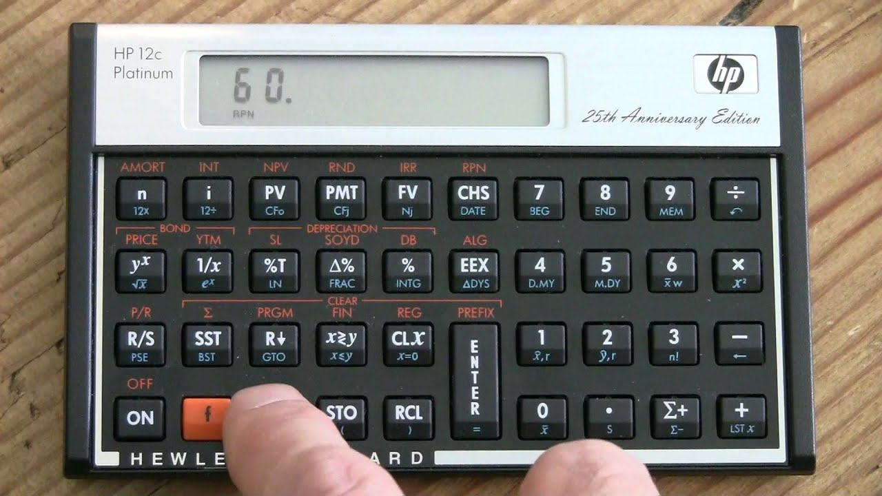 getting irr of series of cash flows youtube rh youtube com HP Scientific Calculator Hewlett-Packard HP