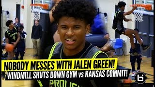 Jalen Green Windmill SHUTS DOWN GYM! Prolific Prep Looks Unbeatable vs Kansas Commit! Highlights!