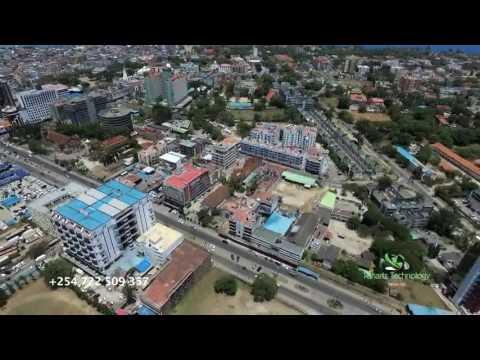 MOMBASA DRONE - KENYAN AERIAL BEAUTY - MOMBASA ISLAND