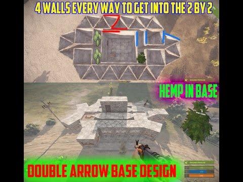 Rust Double Arrow Base Design | Small / Medium Clan | Hemp In Base