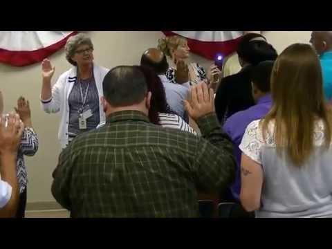My US Citizenship Oath Ceremony. Charleston SC 4-6-15