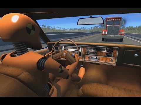 Seatbelt vs. No Seatbelt Crash Test Dummy | BeamNG.drive