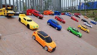 CARBOT TRANSFORMERS DISNEY CAR SLIDE 카봇 트랜스포머 디즈니카 미끄럼틀 놀이