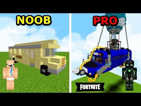 Minecraft NOOB VS PRO- JAK ZROBIĆ AUTOBUS W MINECRAFT?!