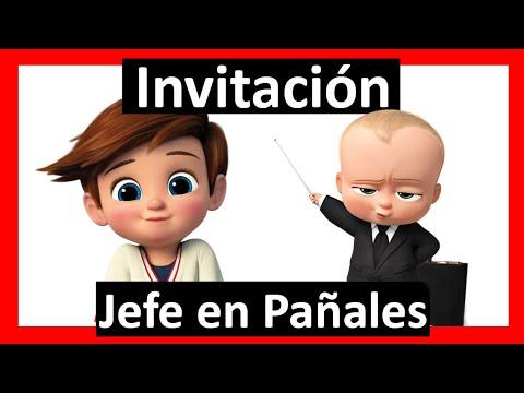 Video Invitación Baby Shower Jefe En Pañales Whatsapp