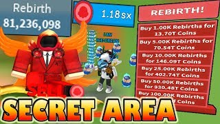 *NEW* SECRET REBIRTH AREA!!! 100mil rebirths/hour! - 🍦Roblox Ice cream simulator