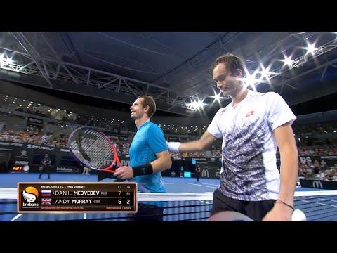 Daniil Medvedev v Andy Murray match highlights (2R) | Brisbane International 2019
