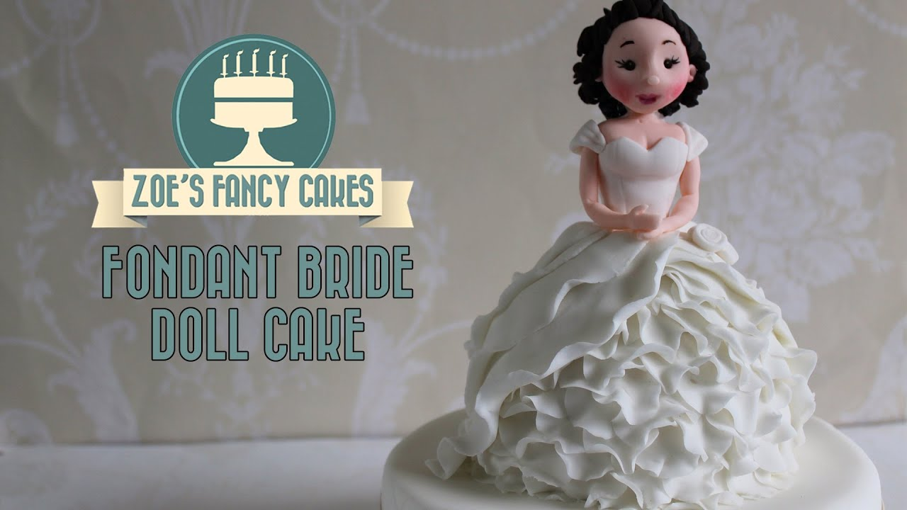 How To Make A Fondant Bride Doll Cake Or Cupcake How To