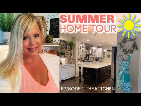 SUMMER 🏖 ☀️💦  HOME TOUR: EPISODE 1 - THE KITCHEN!!