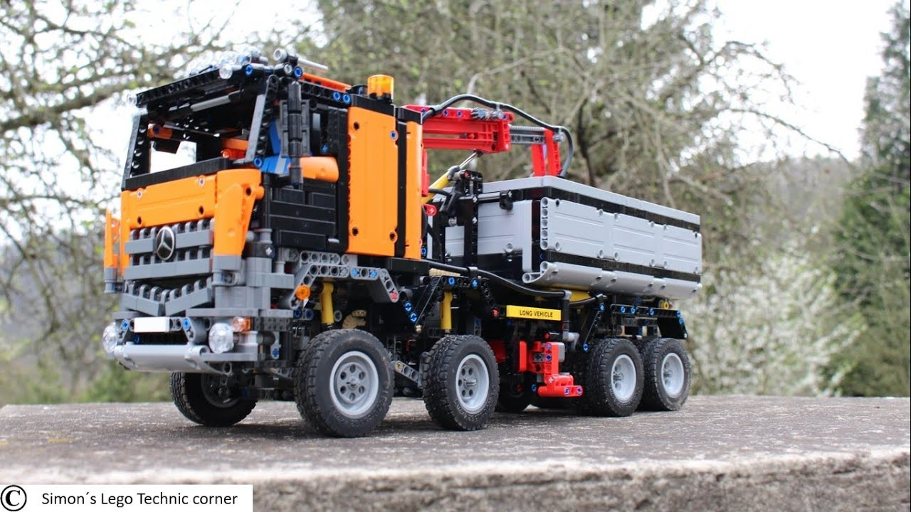 lego technic mercedes arocs 3245 container truck mod youtube. Black Bedroom Furniture Sets. Home Design Ideas