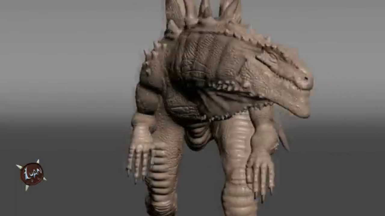 American Godzilla 3d model - low and high poly