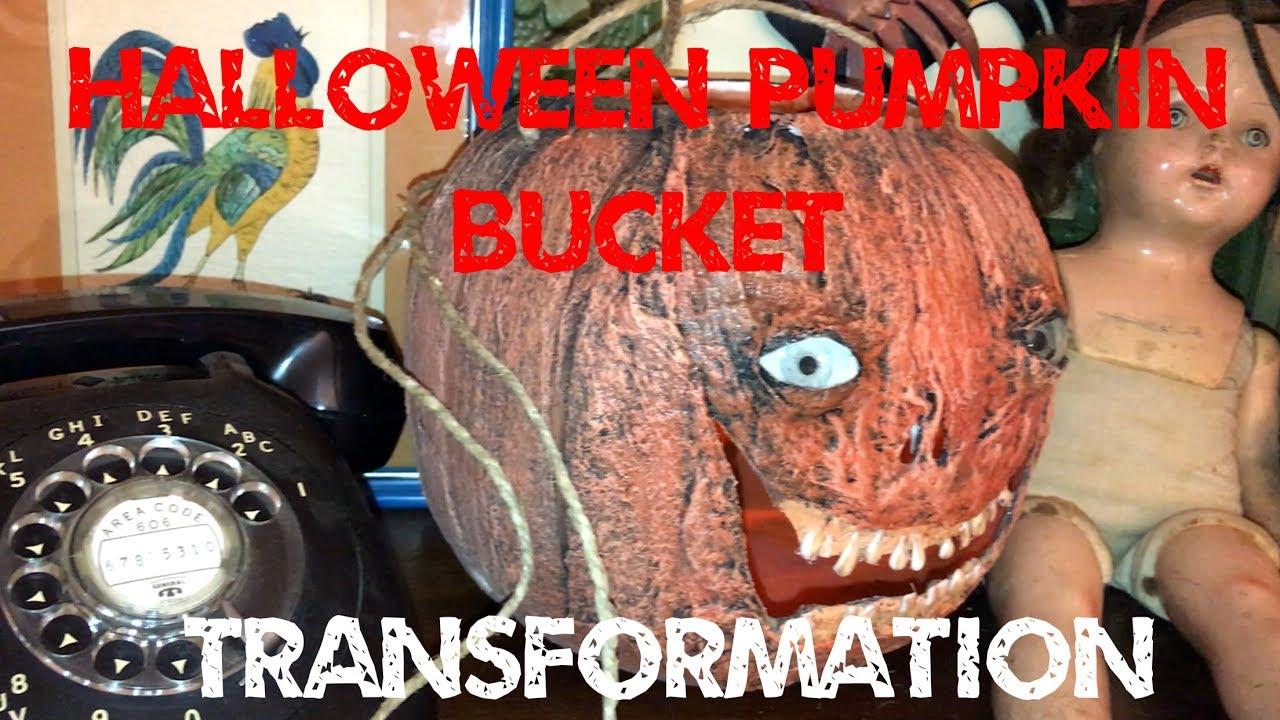 halloween pumpkin bucket transformation monster tutorials style