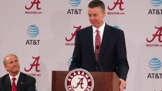 Greg Byrne introduced as Alabama AD