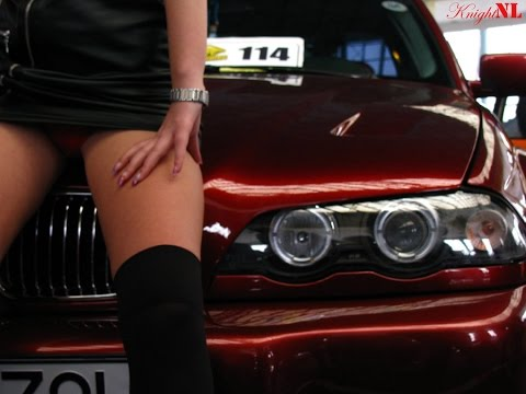 Sexy Girl In Bmw 5 Candy Red Youtube