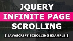 Infinite Page Scrolling Example Using Html CSS and Javascript - Javascript Scrolling Effect Tutorial