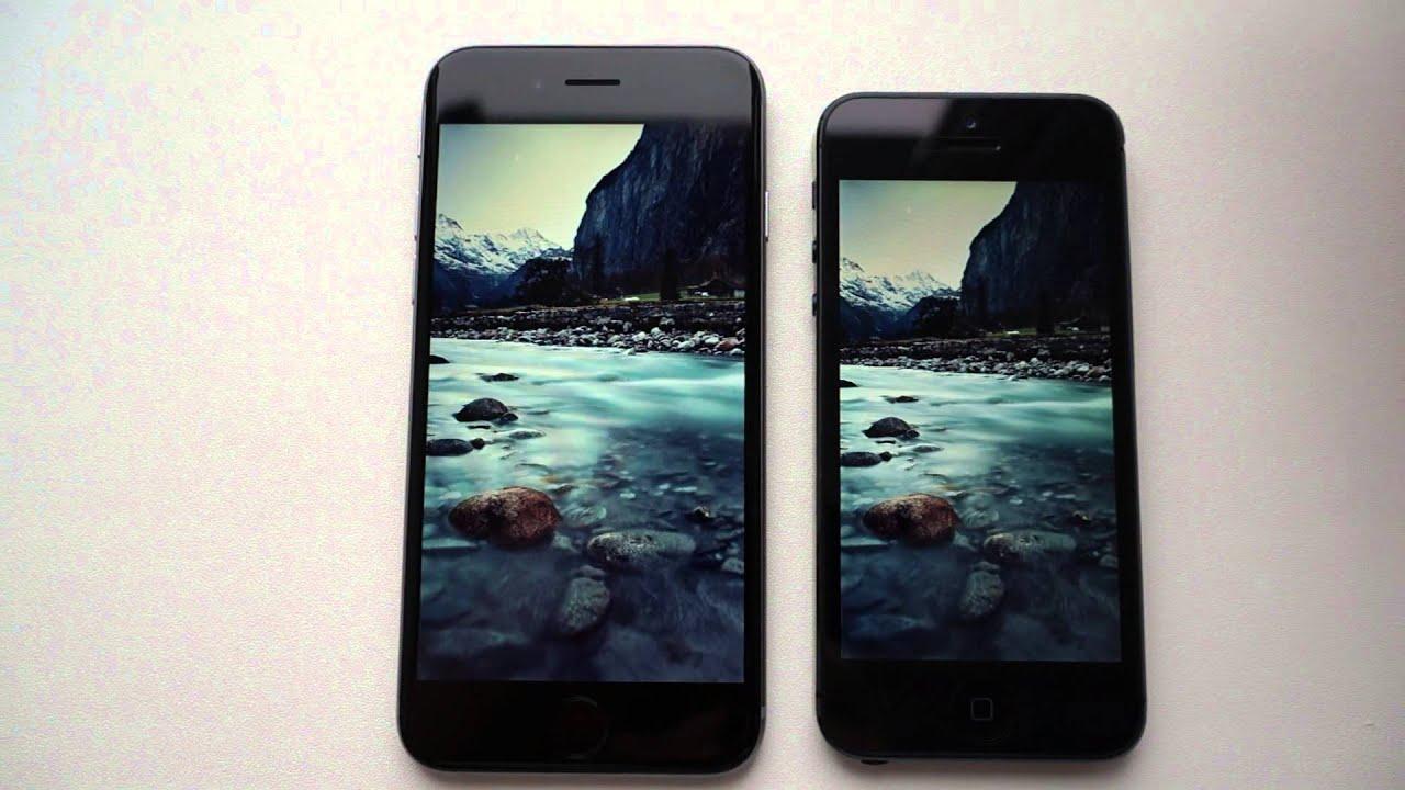 фото сравнение айфон 5 и 6 фото