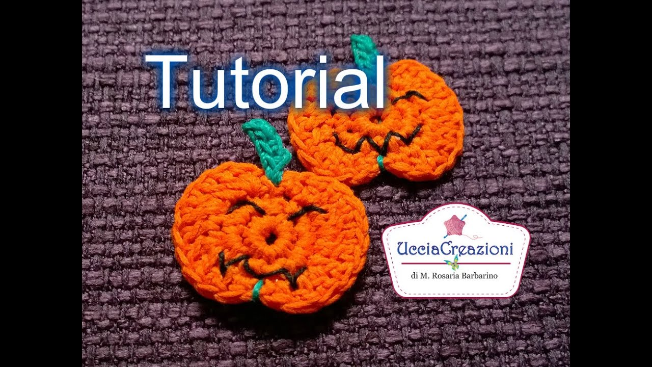 Tutorial 19 Zucca all Uncinetto Halloween How to Crochet a