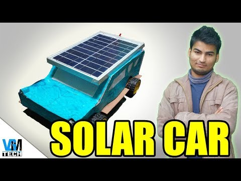How to Make a Solar Powered Car | Mini Project