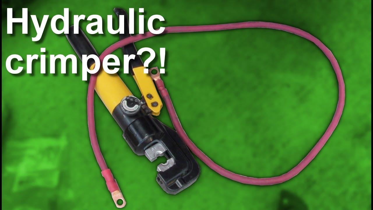 Klutch 11-Ton Hydraulic Crimping Head