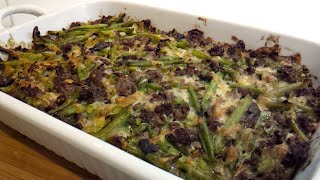 Green Bean and Hamburger Casserole (low carb, Dr Poon)