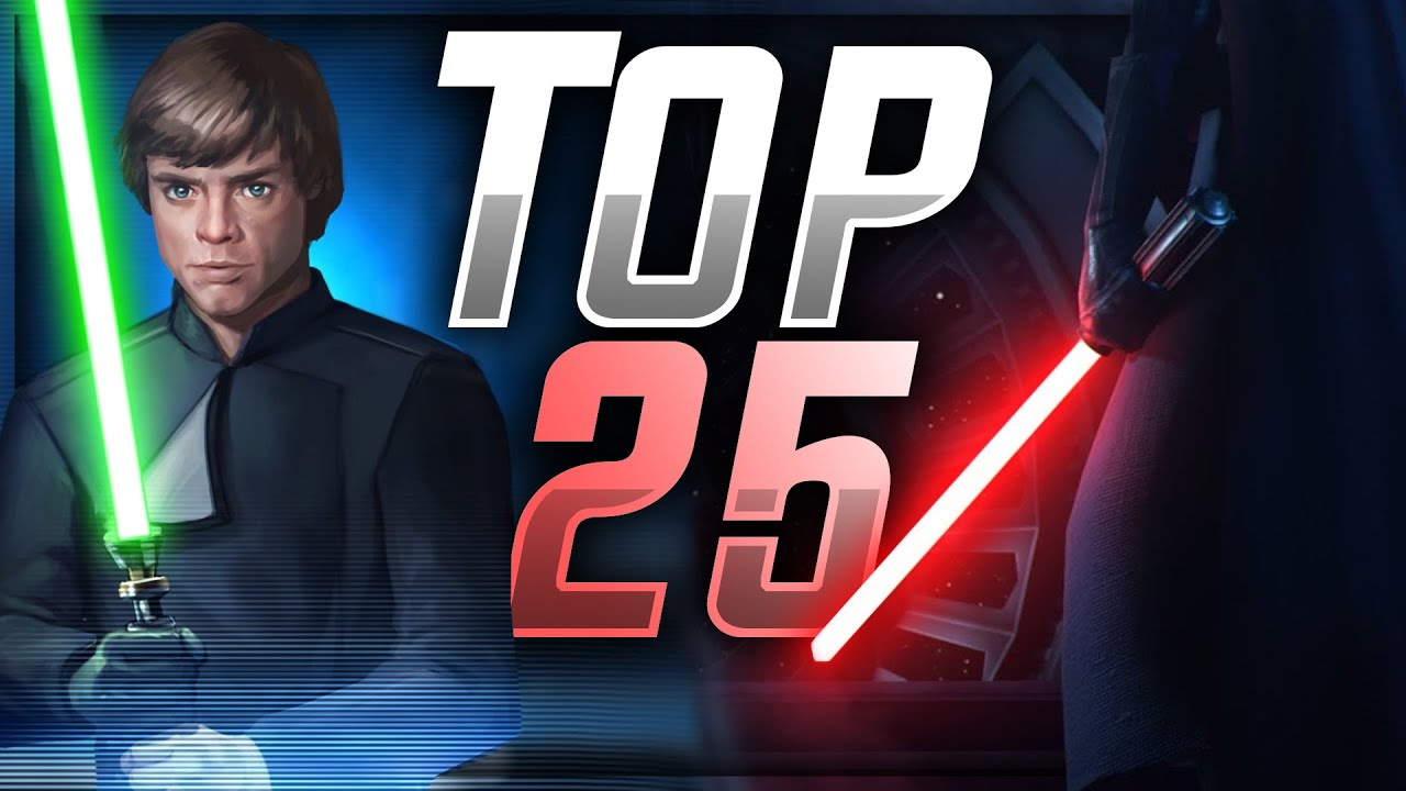 SWGoH Top 25 Heroes! Where Will Luke & Vader Fall? | Star Wars: Galaxy of Heroes