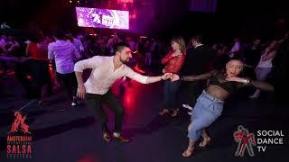Riccardo  & Jessica Quiles - Salsa social dancing | Amsterdam International Salsa Festival 2019