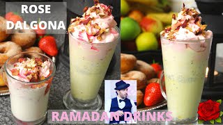 Ramadan Drink Recipes Rose Dalgona