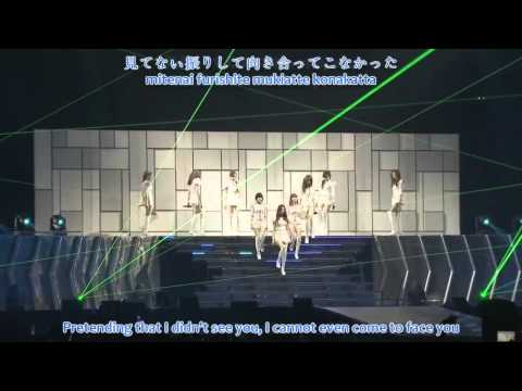 [HD] SNSD - Let It Rain @ 1st Japan Tour (romaji+jap+eng sub)