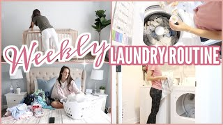 MY WEEKLY LAUNDRY ROUTINE | LAUNDRY ROUTINES 2019 | CLEAN WITH ME 2019