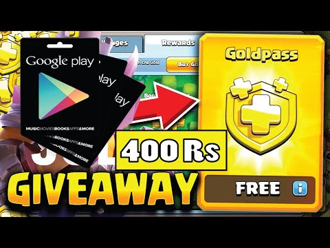 Clash Of Clans Live | 400Rs Play Gift Card / Golden Pass Giveaway | SUBSCRIBE Now & Join