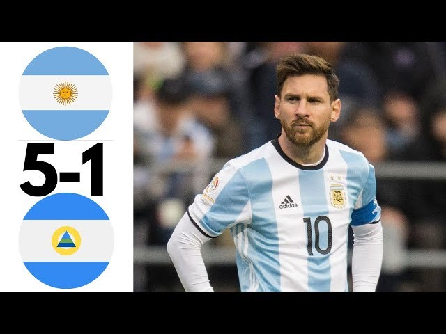 Argentina vs Nicaragua 5-1 All Goals and Extended Highlights