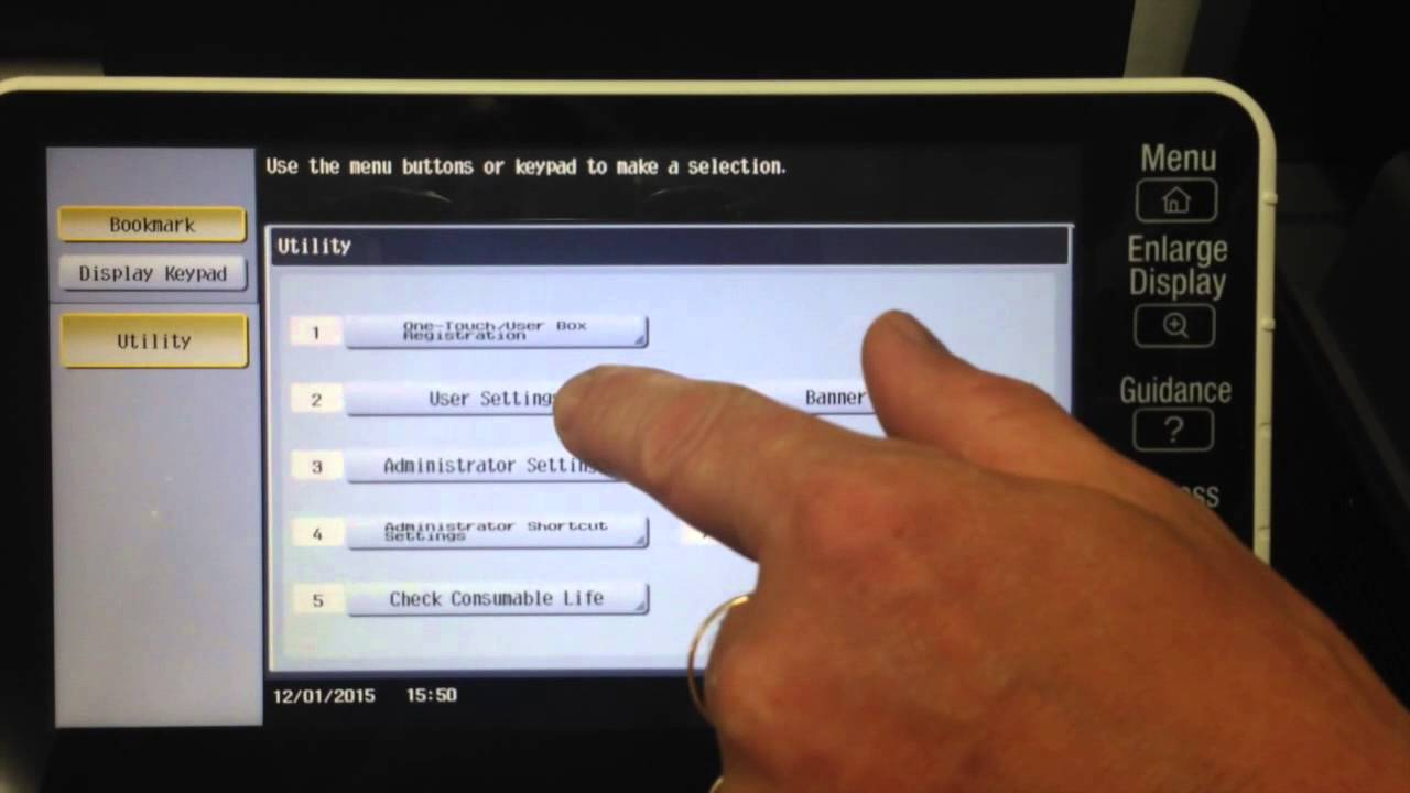 Konica Minolta: Scan multiple pages from glass