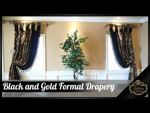 Black And Gold For A Powerful And Prosperous Formal Dining Room   Galaxy Design Video #178