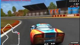 Гоночная желтая машина на трассе  Гонки для мальчиков  Машинки гонки  Мультфильм