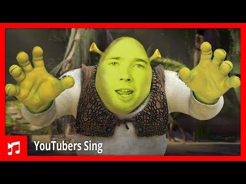 DanTDM Sings The Shrek Theme All Star Parody