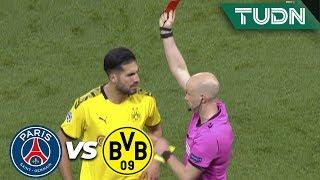 ¡Roja directa! Y se calienta el partido | PSG 2 - 0 Dortmund | Champions League 8vos Final | TUDN