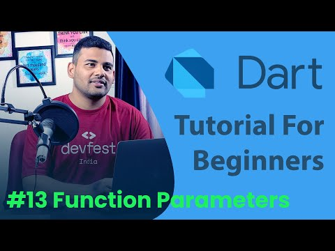 Function Parameters - Named and Optional - #13 Dart Programming Tutorial for Beginners