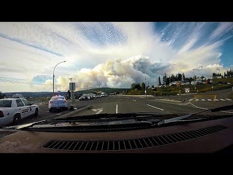 Run From the Wildfire. BC State of Emergency