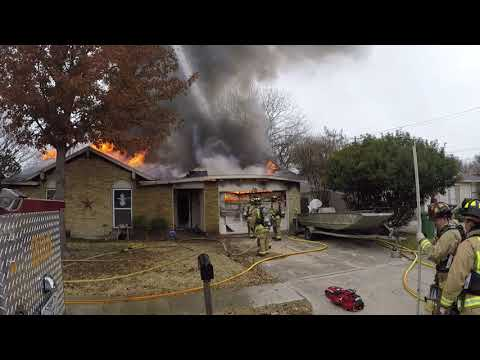 North Richland Hills, Texas(TX) House fire on Southhampton Dr.