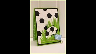 DIY Greeting Card - How to Make Football Greeting Card ( Canson ) + Tutorial !