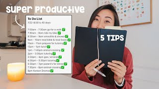 productivity tips to have a productive day at home (& ACTUALLY stick to it)