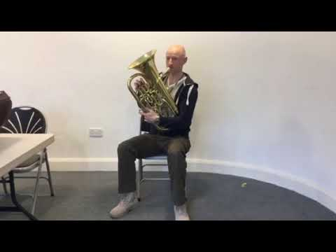 Euphonium baritone the note G
