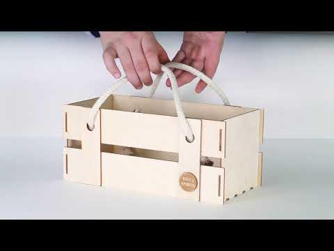 Декоративный ящик для цветов с ручками