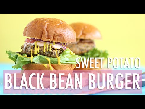 Sweet Potato Black Bean Burger | Healthy Summer Recipes